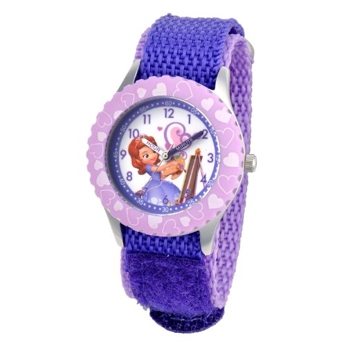 "Disney Kids' W001067 ""Sofia"" Stainless Steel Time Teacher Watch"
