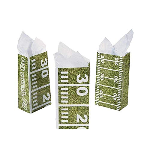 Football Field Treat Bags (One Dozen)Party Supplies/Tailgating/TreatBags/Party favors ()