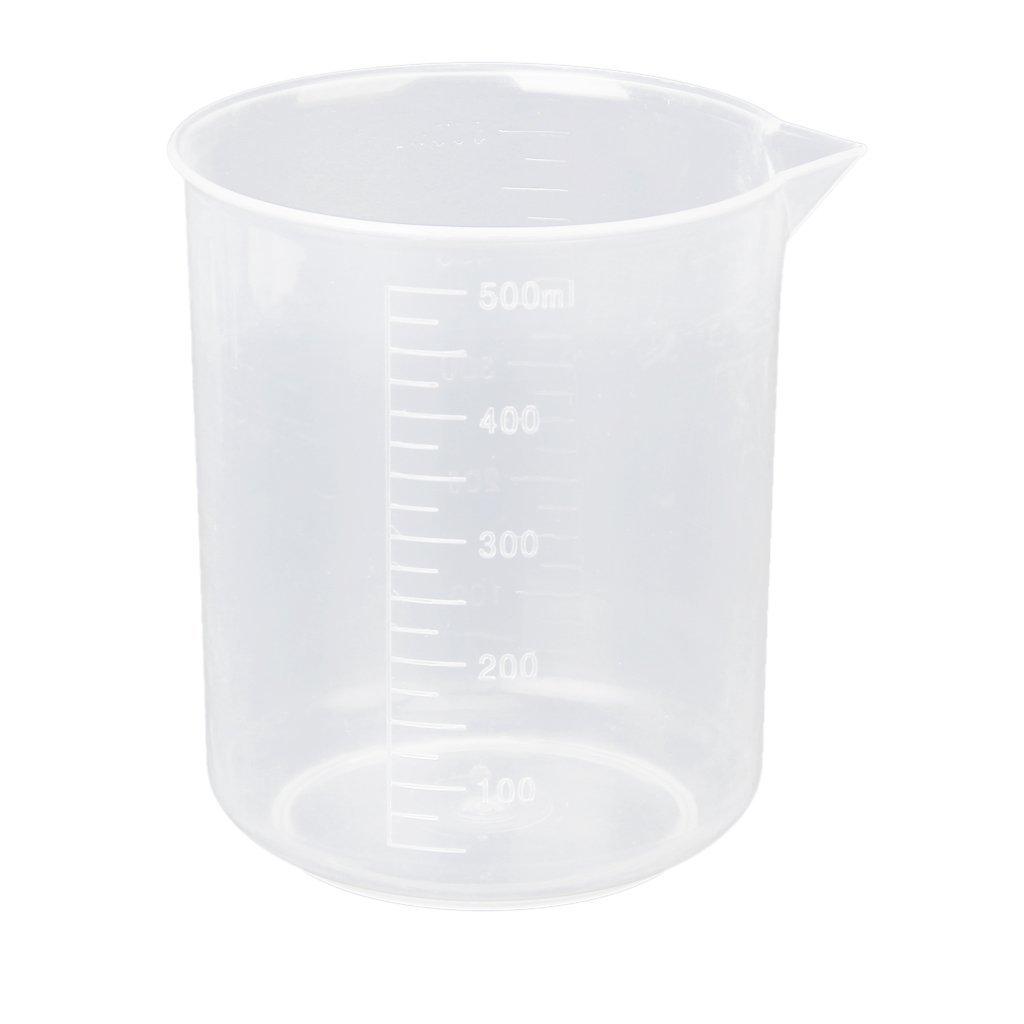 SODIAL(R)500ml Graduated Beaker Transparent