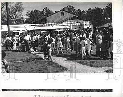 - 1984 Press Photo Baker Village Apartments Fire, Columbus, Georgia
