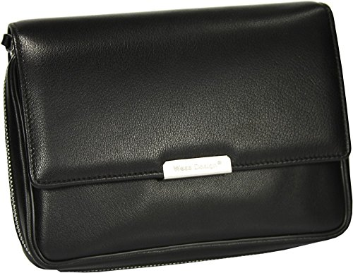 Martin Wess Germany ''Onyx'' Ultra Fine Nappa Leather 4 Pipe Bag Case by Martin Wess