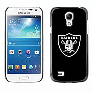 ROKK CASES / Samsung Galaxy S4 Mini i9190 MINI VERSION! / RAIDER HOCKEY / Delgado Negro Plástico caso cubierta Shell Armor Funda Case Cover