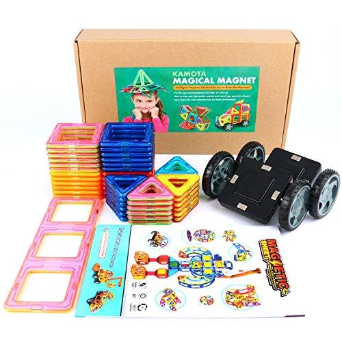 Best Magnetic Toys For Kids : Magnetic building blocks kamota clear color piece