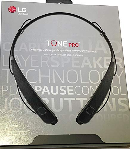 - LG Tone Pro Lightweight Professional Bluetooth Wireless Stereo Headset Headphones - Black (HBS-781). Actual Weight: Just 1.21 Ounces.