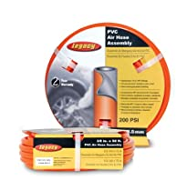Legacy Air Hose, 3/8 in. x 50 ft., 1/4 in. Fittings, PVC, Orange - HL2850FO2-A02