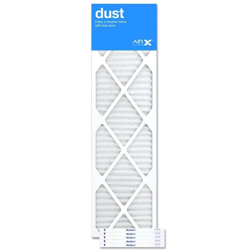 AIRx Filters Dust 10x36x1 Air Filter MERV 8 AC Furnace Pleated Air Filter Replacement Box of 6, Made in the USA