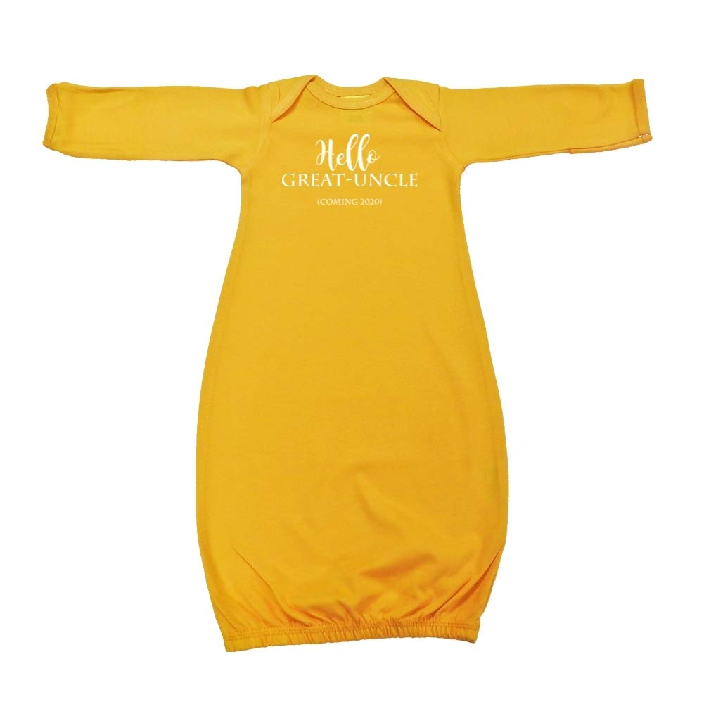 Hello Great-Uncle Announcement Baby Cotton Sleeper Gown Coming 2020