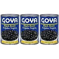 Goya Black Beans Premium 15.5 Oz. Pack Of 3.