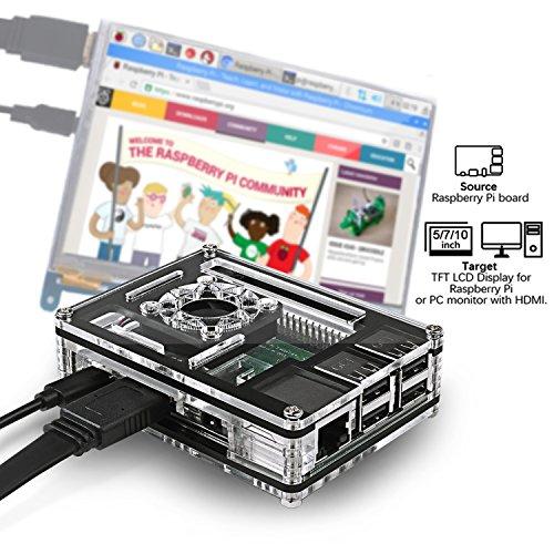 Smraza Raspberry Pi 3 B+ Case with Fan + Heatsinks + 2.5A Power Supply w/On Off Switch for Pi 3B+ Case by Smraza (Image #3)