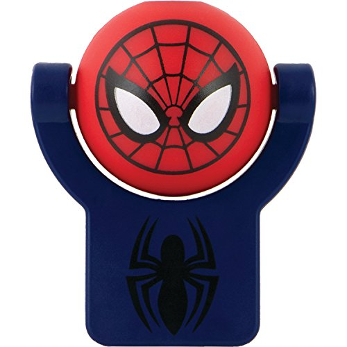 Projectables 13341 Ultimate Spider-Man LED Plug-In Night Light, Red and Blue, Collector's Edition, Light Sensing, Auto On/Off, Projects Marvel Comics Spiderman on Ceiling, Wall, or - Light Spider Night Man