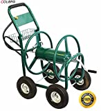 COLIBROX--Garden Water Hose Reel Cart 300FT Outdoor Heavy Duty Yard Water Planting. Perfect for Professional/Commercial garden/Landscaping needs