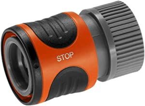 Gardena 36918 Classic Male Garden Hose Connector with Water Stop