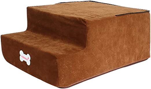 Factorys Nueva Escalera de Esponja de Alta Densidad para Mascotas, Cama Antideslizante de Moda para Mascotas, rampa para Perros, Gato, 3 Pasos, escaleras Ajustables para Mascotas: Amazon.es: Productos para mascotas