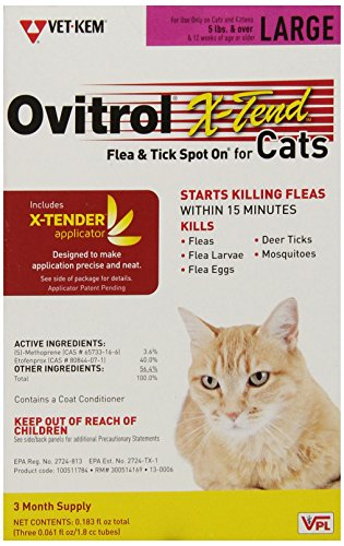 Ovitrol X-Tend Spot on For Cat, 5-Pound