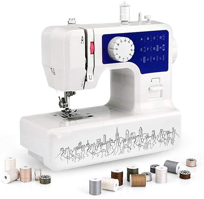 RLF LF Casa Eléctrico Máquina de Coser con Luz de Costura LED, Doble Linea De Doble Sentido Electrónico Máquina de Costura, Regalos de Tela DIY para niños, Máquinas de Bordar (Enchufe de