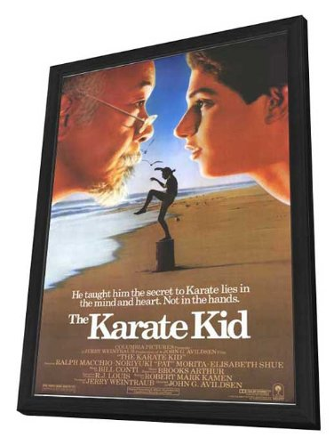 The Karate Kid - 11 x 17 Framed Talking picture Poster
