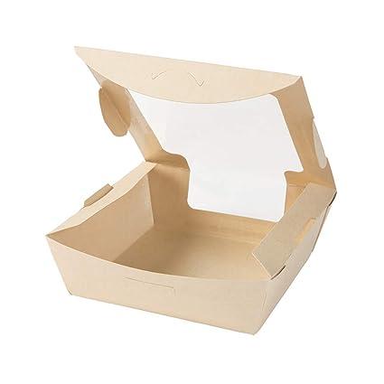 BIOZOYG Caja para Llevar de Fibras de bambú I Hermosa Caja de cartón Tree Free con