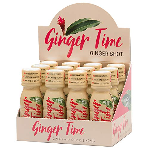 Ginger Time Ginger Shots – Ginger with Citrus & Honey | Non-GMO | No Preservatives or Artificial Flavors/Colors…
