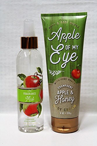Bath & Body Works ~ Signature Collection ~ Champagne Apple & Honey ~ Fine Fragrance Mist 6 fl oz & Body Cream 8 oz ~ Gift Set ~ Fall 2017 (Deliver Champagne Gift)