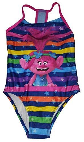 Fashion Girls Trolls Poppy One Piece Swimsuit - Small - Girls 6 6x Swimsuit