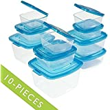 Mr. Lid 10 Piece Attached Lid Plastic Container Set As Seen On T.v.; New