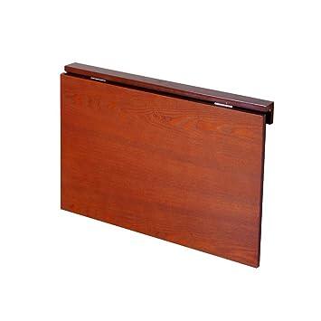 PENGFEI Mesa Plegable Pared Portátil Ordenador Soporte para Laptop Aprendizaje Encimera De Cocina Ahorra Espacio Madera Maciza, 3 Colores (Color : Honey ...