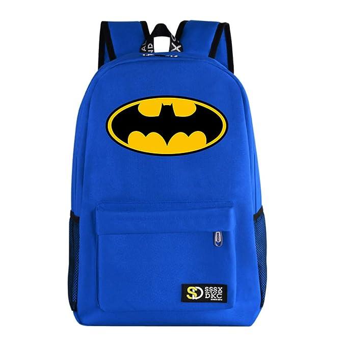 1e95092818f Amazon.com   YOURNELO Leisure DC Comics Marvel Heroes High Capacity  Rucksack School Backpack Bookbag (Deadpool Black)   Kids  Backpacks