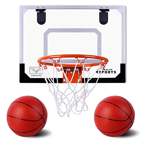 Super Joy Indoor Mini Basketball Hoop and Balls 17.8