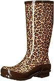 crocs Women's Tall Rain Boot, Leopard, 5 US/5 M US M US