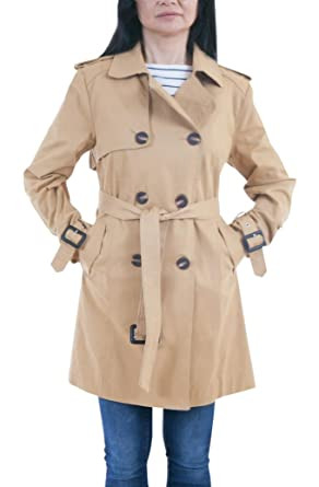 902c3f55200 Image Unavailable. Image not available for. Color  Lee-Cobb LC Women s  Cotton Light Weight Trench Coat Double Breasted Size ...