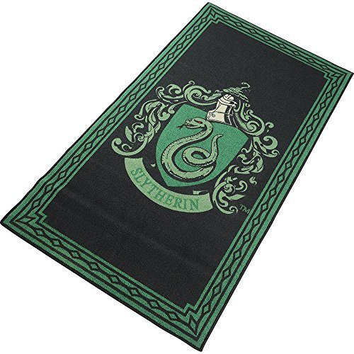 Harry Potter House Slytherin Crest Area Rug Runner Floor Home Decor Movie Logo