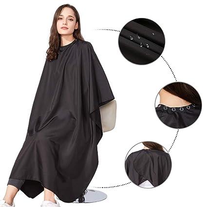 Black Salon Hair Cutting Gown Barber Cape Cloth