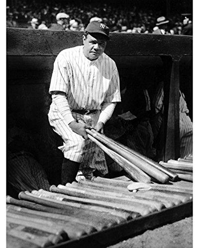 Babe Ruth Photograph (Babe Ruth Holding Bats - 11