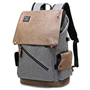 POSO Laptop Backpack 15.6 Inch Water-Repellent Computer Bag Casual Daypack Business College School Travel Men Women…