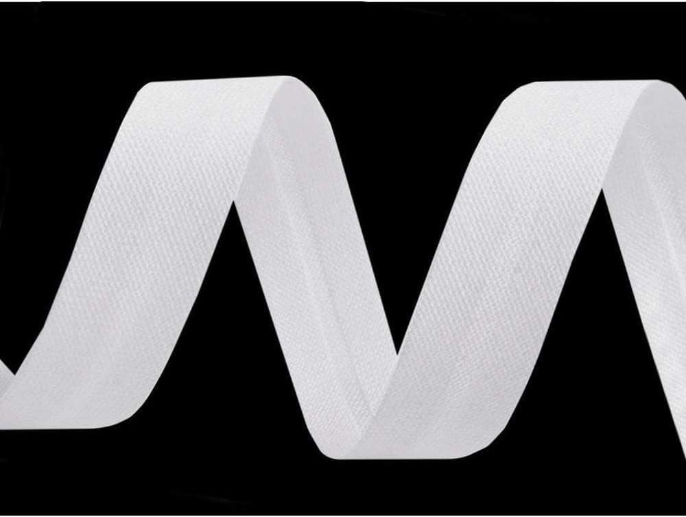 90m White Single Fold Bias Binding Cotton Width 14mm and Other Tape Folded Haberdashery