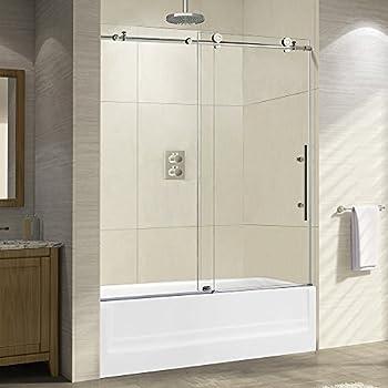 Woodbridge Frameless Sliding Shower 56 Quot Width Height 3