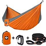 "Weight Supported: 600 pounds   Features: Heavy-duty, Comfortable, Breathable!   Package included: 1x Hammock (118"" x 78""),                                    2x Tree Straps (Per length 9'),                                    2 x Aluminum Carabiner..."