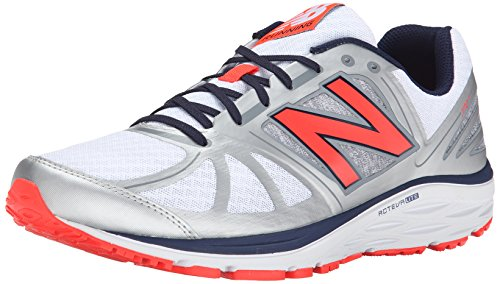 New Balance Men's M770V5 Running Shoe, Silver/Orange, 11 D US