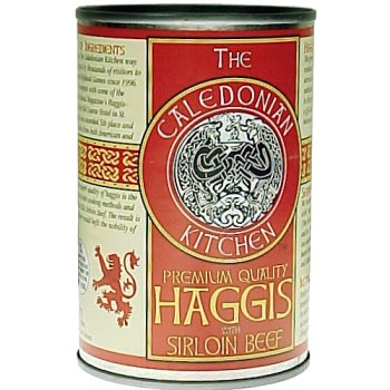 Scottish Food (Caledonian Kitchen Haggis with Sirloin Beef, 14.5oz)