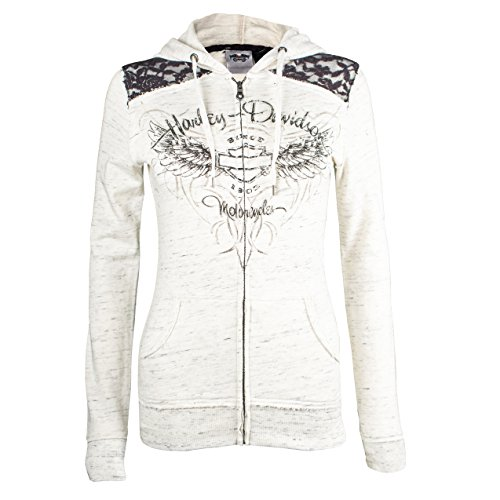 Harley-Davidson Women's Lace Accent Hoodie 99151-16VW (Small)