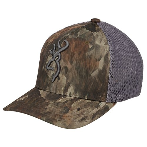 Hat Flex Woven Fit - Browning 308835324 Cap, Speed Meshback Flexfiy, A-TACS TD-x, Large/X-Large
