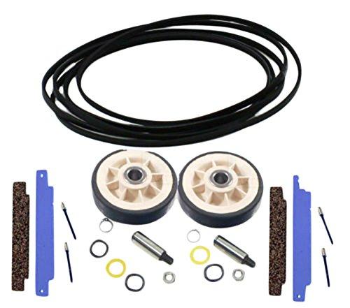 Dura Rollers - Dryer Repair Kit for Maytag, 312959, 306508, 12001541 Belt Rollers