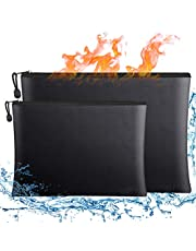"""Fireproof Document Bags,15""""x 11""""Large Waterproof and Fireproof Folder Money Bag and Fireproof Safe Storage Pouch with Zipper for A4 Letter Size Document Holder,File,Cash and Valuables"""
