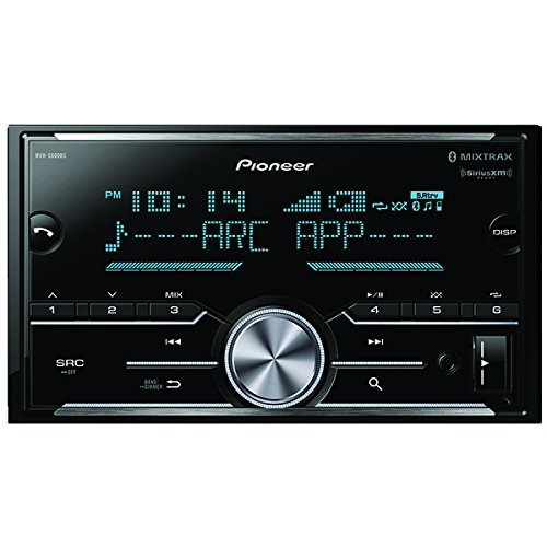 Pioneer MVH-S600BS Double Din Digital Media Receiver with Enhanced Audio Functions, Improved Pioneer ARC App Compatibility, MIXTRAX, Built in Bluetooth, and SiriusXM Ready by PIONEER