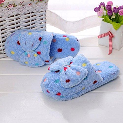 Slippers Damen Schuhe Xinan Winter Womens Indoor Home Shoes Faux Pelz Warme Pantoffeln Himmelblau