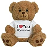 FUNNYSHIRTS.ORG I Heart You Harmonie Love: 8 Inch Teddy Bear Stuffed Animal