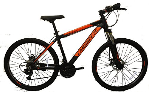 Mens 26'' Mountain Bikes Bicycles 21 Speeds SHIMANO aluminium Frame (Black)