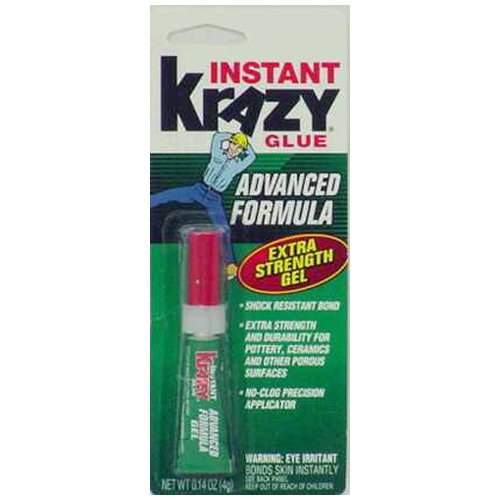 Elmers Advanced Formula Krazy Glue (Krazy Glue KG48448MR Krazy® Glue Mini Advanced Formula Gel)