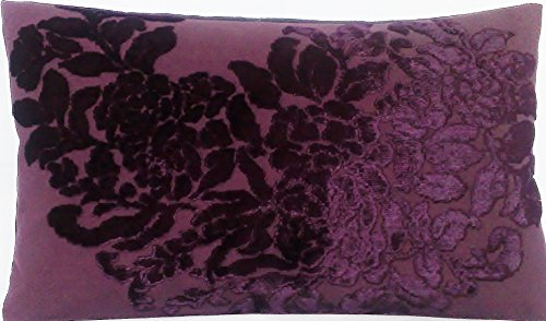 (Purple Cushion Cover Osborne and Little Fabric Soubise Velvet Pillow Throw Decorative )