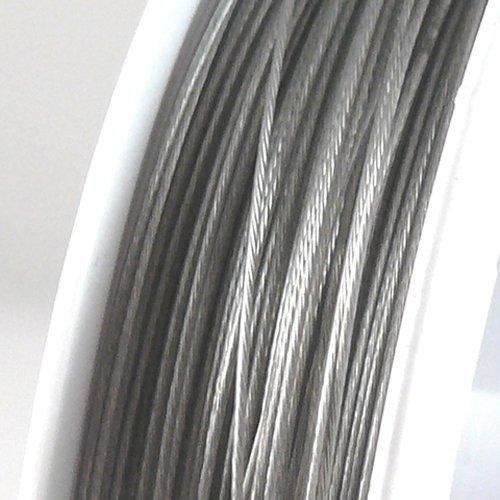 70m Schmuckdraht Basteldraht silberfarben nylonummantelt 0,45mm Draht -673